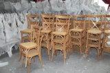 خشب الزّان بلوط [سليد ووود] فندق مأدبة [رتّن] صليب [إكس] كرسي تثبيت خلفيّة يتعشّى أثاث لازم