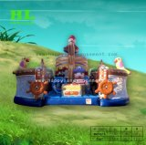 幸せなサーカスの跳躍の家の弾力があるスライドの城膨脹可能なFuncity