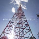 Tubular de acero galvanizado de 3 piernas autosuficiente de la torre de telecomunicaciones