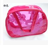 Bolso cosmético plástico de encargo estándar del PVC del alcance pequeño