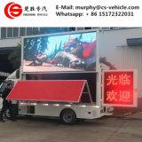 Foldable 단계를 가진 트럭을 광고하는 P6 P8 P10 옥외 전시 이동할 수 있는 LED