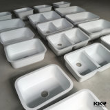 Upc Black Double Solid Surface Stone Kitchen Undermount Sink (S1704272)