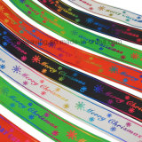Grosgrain-Drucken-Farbband für Weihnachten