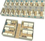 多階の平らな容器のアパートBuiding