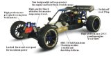 Radio Caotrol Toy 1 / 5ème échelle 4WD Gasoline RC Car