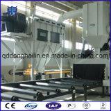 Trasportatore a rulli attraverso tipo macchina di granigliatura per i piatti d'acciaio
