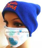 女性の熱マスクは帽子を編んだ