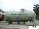Serbatoio orizzontale di FRP per il trattamento di acque luride