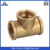 Pieza acodada del cobre de cobre amarillo del color de 3 maneras (YD-6033)