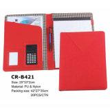 De kleurrijke Omslag van de Organisator van het Document van de Vrouwen van het Leer Faux met Calculator