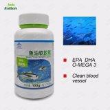 Huile de poisson de la santé certifiés GMP Softgels DHA, l'EPA, la vitamine E, Omega 3 Huile Capsule naturelles de poissons (100 softgels/ bouteille)