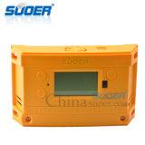 Alta eficiência Suoer 12 V 24 V 30A 2 USB MPPT Controlador do regulador de carga solar