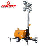van de Diesel van de Mast Perkins/Kubota van 9m de HandToren van de Verlichting van de Bouw Noodsituatie van de Generator Mobiele