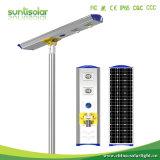 8 ans de garantie IP66 intégré tous les feux de route de plein air dans une rue lumière solaire Lampe à éclairage à LED