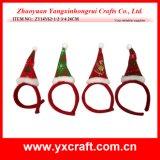 Décoration de Noël (ZY14Y34-1-2 16cm) Chapeau de Noël