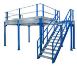 Plataforma de aço para oficina ou num entreposto franco