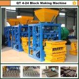 Piccolo blocchetto di fabbricazione automatico della Cina Qt4-24 in macchina per fabbricare i mattoni centrale dell'Asia