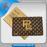 Карточки члена PVC пластичные с влиянием золота Drawbench