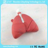 Forma de pulmão humano personalizado unidade flash USB com o logotipo (ZYF5048)