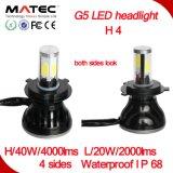 2016 Nuevo Auto LED de alta potencia bulbo de la linterna LED de 12V 24V Faro H1 H3 H4 H7 del coche H3 LED Bombillas Faro
