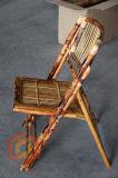 Cadeiras plegáveis de bambu todo-naturais sólidas