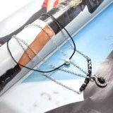 ロープのリンク・チェーンの模倣真珠水晶水低下の吊り下げ式のチョークバルブのネックレス