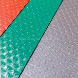 Couvre-tapis imperméable à l'eau de vente chaud de configuration de pièce de monnaie de PVC des prix bon marché