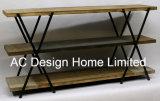 3 Hout van de Decoratie van de rij de het Antieke Uitstekende/Plank van het Metaal