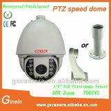 À prova de IP66 H. 264 Onvif Rastreamento Automático HD 720p Câmara IP PTZ 150m