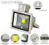 Venta caliente de alta potencia de 30W Negro PIR Sensor Reflector LED