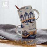 330ml de Mok van de Koffie van het Porselein van het Overdrukplaatje van het Embleem van de douane