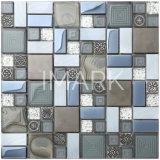 Placage au mélange de verre en cristal carreaux de mosaïque en aluminium Cuisine Salle de bains mur