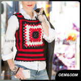 Combinação Ladies Color Handmade Crochet Sweater Vest