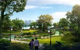 Luz solar toda junta del nuevo diseño para el jardín