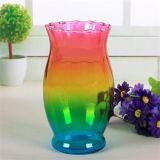 Heet verkoop de Kleurrijke Vaas van de Bloem van het Glas van de Decoratie