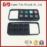 Tastiera di gomma nera personalizzata del silicone/protezione di gomma/tasto di gomma