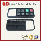 Botón personalizado Negro de goma de silicona teclado / superior de caucho / goma