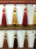 Qualität mehr Farben-Troddel-Franse für Vorhang-Spitze