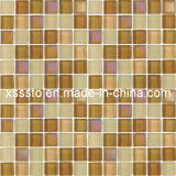 Brown mezcló los azulejos de mosaico de cristal para la decoración de la pared y del suelo