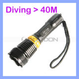 100m Diving Underwater 800lm CREE Q5 LED Flashlight Rechargeable Light
