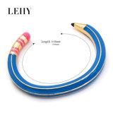 Pulseira abertas dos braceletes do punho cor-de-rosa & azul da forma do lápis do esmalte