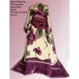 겨울을위한 폴리 에스테르 라셀 담요 라셀 담요 한 가닥 담요 따뜻한 담요