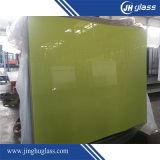 緑の黄色く赤く黒い塗られた薄板にされたガラスの安全ガラス