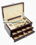 Boîte-cadeau en bois de bijou de fini à haute brillance
