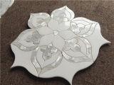 Azulejo de mosaico Waterjet de mármol mezclado de Shell de la venta caliente