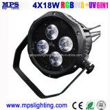 Водонепроницаемый мини-LED PAR лампа Can 4*18W Rgbwauv для опорных освещения