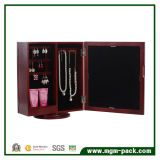 Het houten Roterende Tafelblad Weerspiegelde Kabinet van de Opslag van Juwelen