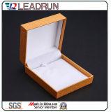 Кожаный коробка подарка упаковки Cufflink Bangle настоящего момента сувенира коробки хранения ювелирных изделий бархата (YSP134)