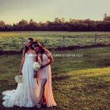 Vestidos nupciais Z2033 do trem da corte do laço dos vestidos de casamento do querido