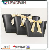 Brown Kraft Print Paper Shopping Gift Hand Promotional revestido Art Paper Carrier Cosmetic Jewelry Packing Bag (F60E)
